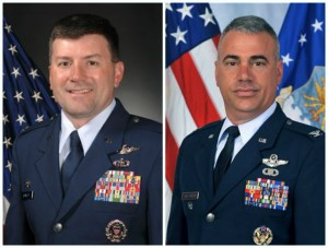 Col. Marty Reynolds and Col. Mark Williamson lead Offutt Air Force Base in Bellevue, Neb.